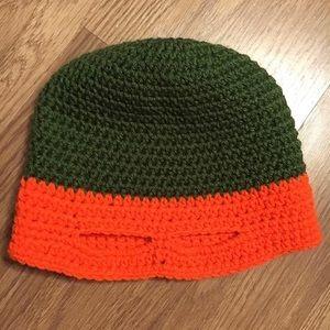 Other - Handmade orange ninja turtle crochet hat!